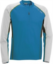 triko Salomon Trail Runner LS zip blue