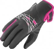 rukavice Salomon Thermo W black/pink 16/17