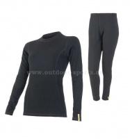 Akční set SENSOR Double Face MERINO WOOL dámský dlouhý rukáv + nohavice černá
