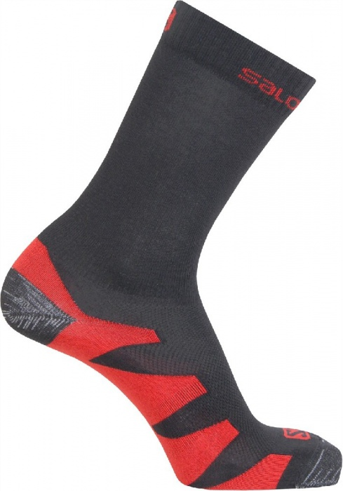ponožky Salomon Synapse black/autobahn/orange