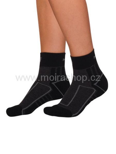 MOIRA ponožky CYKLO černá