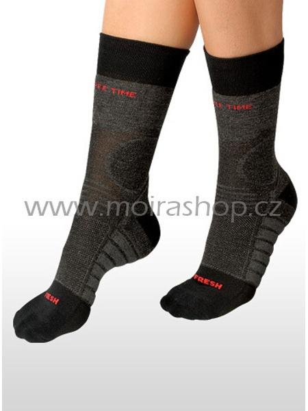 MOIRA ponožky FRESH šedá melír
