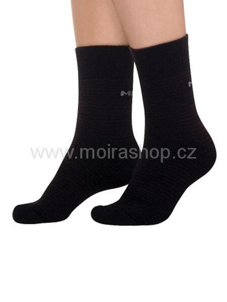 MOIRA ponožky KOMFORT 2 černá