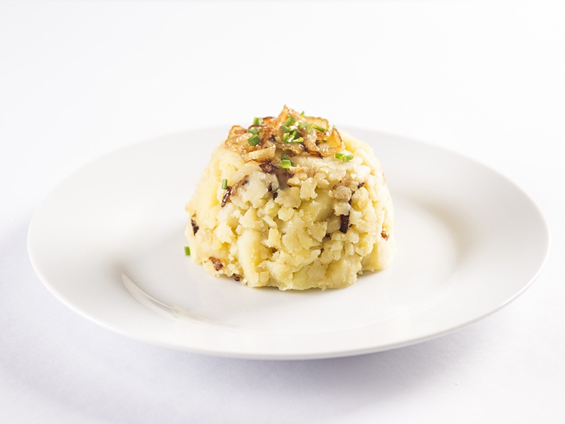 Expres menu Šťouchané brambory s cibulkou
