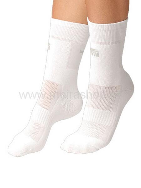 MOIRA ponožky PLYŠ bílá