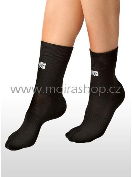 MOIRA ponožky PLYŠ černá