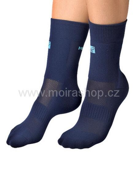 MOIRA ponožky PLYŠ modrá