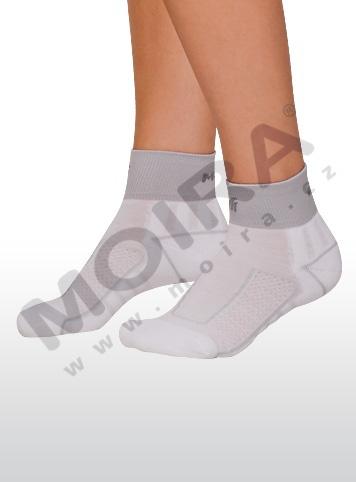 MOIRA ponožky CYKLO bílá