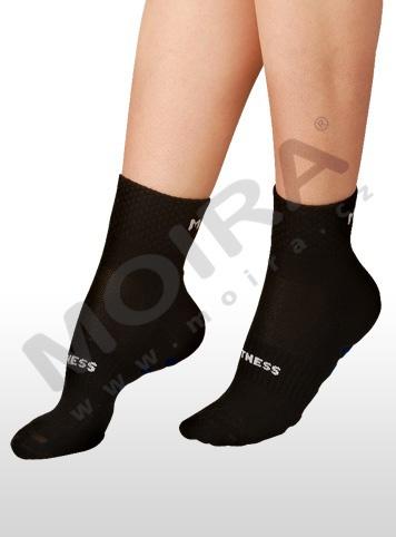 MOIRA ponožky FITNESS černo-bílá