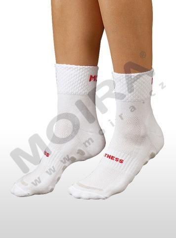 MOIRA ponožky FITNESS bílo-červená