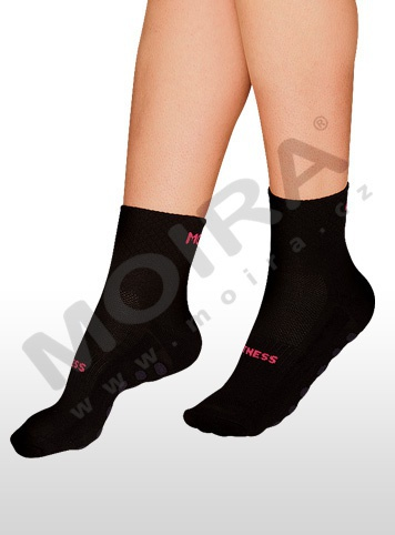 MOIRA ponožky FITNESS černo-jahodová