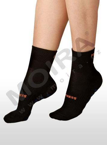 MOIRA ponožky FITNESS černo-oranžová