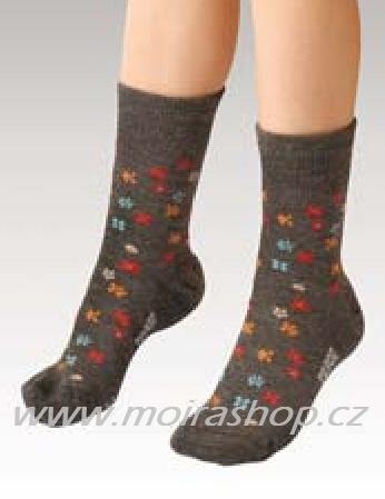 MOIRA ponožky TG900 dětské šedé kytička