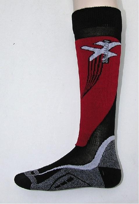 ponožky Salomon X Wing black/red