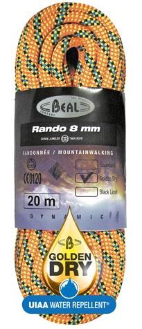 BEAL Rando 8mm classic orange 30m